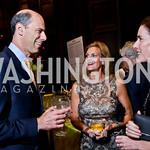 Judge Jeb Boasberg, Katherine Weymouth, Liddy Manson. Photo by Tony Powell. 2014 PEN Faulkner Gala. Folger Shakespeare Library. October 6, 2014
