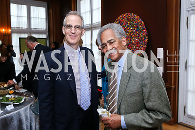Curtis Sandberg, Amb. Kenton Keith. Photo by Tony Powell. Past Forward Opening. Meridian. May 21, 2014