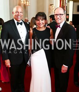 Homeland Security Sec. Jeh Johnson, Commerce Sec. Penny Pritzker, Labor Sec. Thomas Perez. Photo by Tony Powell. 2015 Kennedy Center Spring Gala. May 3, 2015