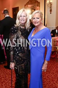 Susan Blumenthal, Deborah Sigmund. Photo by Tony Powell. Mentor Foundation USA International Gala. Mayflower Hotel. September 22, 2015