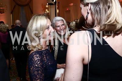 Yvonne Thunell, RoAnn Costin. Photo by Tony Powell. Mentor Foundation USA International Gala. Mayflower Hotel. September 22, 2015