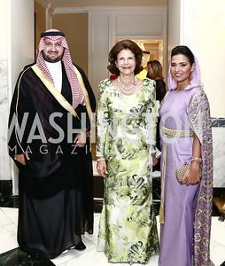 Prince Abdul bin Talal Abdul-Aziz al Saud, HM Queen Silvia of Sweden, Princess Sora Al Saud. Photo by Tony Powell. Mentor Foundation USA International Gala. Mayflower Hotel. September 22, 2015
