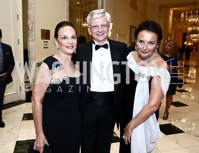 Grace Bender, Austria Amb. Hans Peter Manz, Rhoda Septilici. Photo by Tony Powell. Mentor Foundation USA International Gala. Mayflower Hotel. September 22, 2015