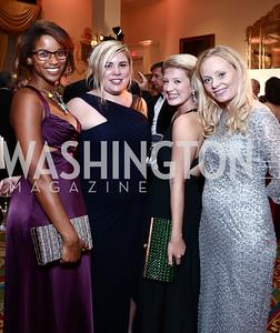 Morgan Fykes, Jessica Hoy, Elizabeth Kane, Michaela Pratt. Photo by Tony Powell. Mentor Foundation USA International Gala. Mayflower Hotel. September 22, 2015