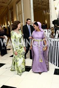 HM Queen Silvia of Sweden, Princess Sora Al Saud. Photo by Tony Powell. Mentor Foundation USA International Gala. Mayflower Hotel. September 22, 2015