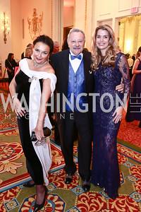 Rhoda Septilici, Peter Colasante, Sabine Roemer. Photo by Tony Powell. Mentor Foundation USA International Gala. Mayflower Hotel. September 22, 2015