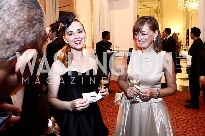 Ekaterini Malliou, Susanna Michelsen. Photo by Tony Powell. Mentor Foundation USA International Gala. Mayflower Hotel. September 22, 2015