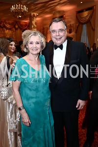 Inga Haarde and Iceland Amb. Geir Haarde. Photo by Tony Powell. Mentor Foundation USA International Gala. Mayflower Hotel. September 22, 2015