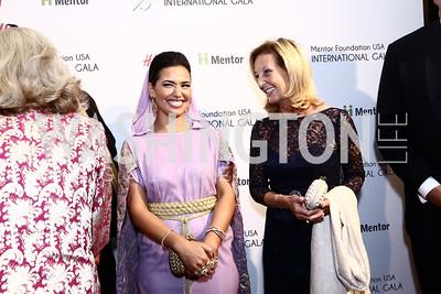 Princess Sora Al Saud, Yvonne Thunell. Photo by Tony Powell. Mentor Foundation USA International Gala. Mayflower Hotel. September 22, 2015