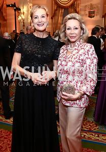 Carol Meharry, Helma Bloomberg. Photo by Tony Powell. Mentor Foundation USA International Gala. Mayflower Hotel. September 22, 2015