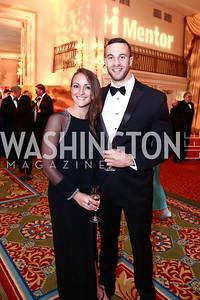Jeannette Thulin, Marc Carrie. Photo by Tony Powell. Mentor Foundation USA International Gala. Mayflower Hotel. September 22, 2015