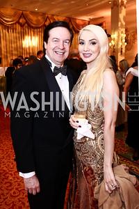 Paul and Ioana Lee. Photo by Tony Powell. Mentor Foundation USA International Gala. Mayflower Hotel. September 22, 2015
