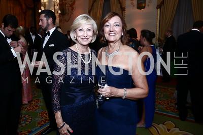 Betty Baird, Susan DeGrazia. Photo by Tony Powell. Mentor Foundation USA International Gala. Mayflower Hotel. September 22, 2015