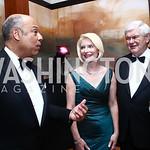 Homeland Security Secretary Jeh Johnson, Callista and Newt Gingrich. Photo by Tony Powell. 2015 Opera Ball. June 6, 2015