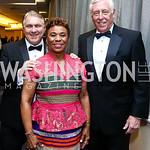 James Hoffa, Rep. Barbara Lee, Rep. Steny Hoyer. Photo by Tony Powell. 2015 WHCD Pre-parties. Hilton Hotel. April 25, 2015