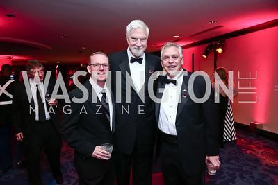 Peter O'Keefe, Thomas McMillen, Gov. Terry McAuliffe. Photo by Tony Powell. 2015 Fight Night. Hilton Hotel. November 5, 2015