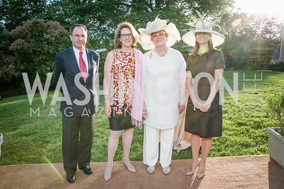 Geoffrey Baker, Leslie Buhler, Ellen MacNeille, Elizabeth Powell .Photo by Alfredo Flores. Tudor Place Garden Party. Tudor Place. May 20, 2015